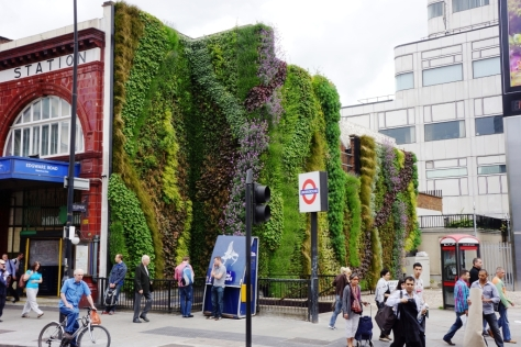 6 Edgware Road Tube Station green wall